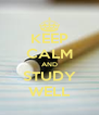 KEEP CALM AND STUDY WELL - Personalised Poster A4 size