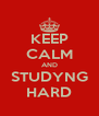 KEEP CALM AND STUDYNG HARD - Personalised Poster A4 size