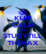 KEEP CALM AND STUDYTILL THEMAX - Personalised Poster A4 size
