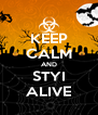 KEEP CALM AND STYI ALIVE - Personalised Poster A4 size
