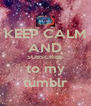 KEEP CALM AND SUBSCRIBE to my tumblr - Personalised Poster A4 size