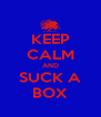 KEEP CALM AND SUCK A BOX - Personalised Poster A4 size