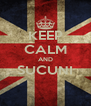 KEEP CALM AND SUCUNI  - Personalised Poster A4 size