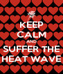 KEEP CALM AND SUFFER THE HEAT WAVE - Personalised Poster A4 size