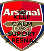 KEEP CALM AND SUPORT ARESNAL - Personalised Poster A4 size