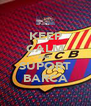 KEEP CALM AND SUPORT BARCA - Personalised Poster A4 size