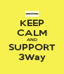KEEP CALM AND SUPPORT 3Way - Personalised Poster A4 size