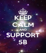 KEEP CALM AND SUPPORT 5B - Personalised Poster A4 size
