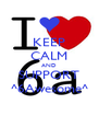 KEEP CALM AND SUPPORT ^6Awesome^ - Personalised Poster A4 size