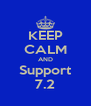 KEEP CALM AND Support 7.2 - Personalised Poster A4 size