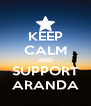 KEEP CALM AND SUPPORT ARANDA - Personalised Poster A4 size
