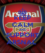 KEEP CALM AND SUPPORT ARSNAL  - Personalised Poster A4 size