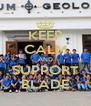 KEEP CALM AND SUPPORT BLADE - Personalised Poster A4 size