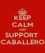 KEEP CALM AND SUPPORT  CABALLERO - Personalised Poster A4 size