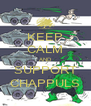KEEP CALM AND SUPPORT CHAPPULS - Personalised Poster A4 size
