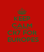 KEEP CALM AND SUPPORT  CR7 FOR  EUROPES - Personalised Poster A4 size