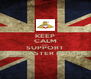 KEEP CALM AND SUPPORT DONCASTER ROVERS - Personalised Poster A4 size