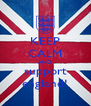 KEEP CALM AND support england! - Personalised Poster A4 size