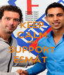 KEEP CALM AND SUPPORT ESMAT  - Personalised Poster A4 size