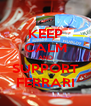 KEEP CALM AND SUPPORT FERRARI - Personalised Poster A4 size