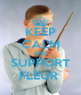KEEP CALM AND SUPPORT FLEUR  - Personalised Poster A4 size