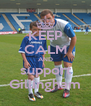 KEEP CALM AND support Gillingham - Personalised Poster A4 size