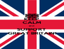 KEEP CALM and SUPPORT GREAT BRITAIN! - Personalised Poster A4 size