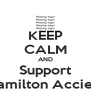 KEEP CALM AND Support Hamilton Accies! - Personalised Poster A4 size