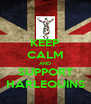 KEEP CALM AND SUPPORT HARLEQUINS - Personalised Poster A4 size