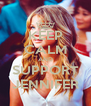 KEEP CALM AND SUPPORT JENNIFER - Personalised Poster A4 size