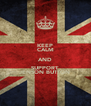 KEEP CALM AND SUPPORT JENSON BUTTON - Personalised Poster A4 size