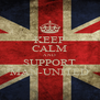 KEEP CALM AND SUPPORT MAN-UNITED - Personalised Poster A4 size