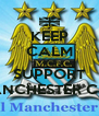 KEEP CALM AND SUPPORT MANCHESTER CITY - Personalised Poster A4 size