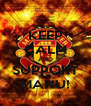 KEEP CALM AND SUPPORT MANU! - Personalised Poster A4 size