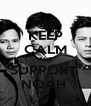 KEEP CALM AND SUPPORT  NOAH  - Personalised Poster A4 size