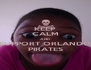 KEEP CALM AND SUPPORT ORLANDO PIRATES - Personalised Poster A4 size
