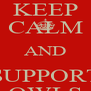 KEEP CALM AND SUPPORT OWLS - Personalised Poster A4 size