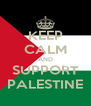 KEEP CALM AND SUPPORT PALESTINE - Personalised Poster A4 size