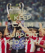KEEP CALM AND SUPPORT RED STAR - Personalised Poster A4 size