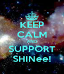 KEEP CALM AND SUPPORT SHINee! - Personalised Poster A4 size