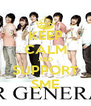 KEEP CALM AND SUPPORT SME - Personalised Poster A4 size