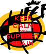 KEEP CALM AND SUPPORT SPAIN - Personalised Poster A4 size