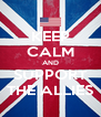 KEEP CALM AND SUPPORT THE ALLIES - Personalised Poster A4 size
