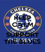 KEEP CALM AND SUPPORT THE BLUES - Personalised Poster A4 size