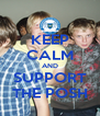 KEEP CALM AND SUPPORT THE POSH - Personalised Poster A4 size