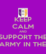 KEEP CALM AND SUPPORT THE PURPLE ARMY IN THE FA CUP - Personalised Poster A4 size