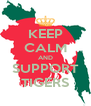 KEEP CALM AND SUPPORT TIGERS - Personalised Poster A4 size
