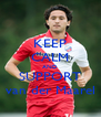 KEEP CALM AND SUPPORT van der Maarel - Personalised Poster A4 size
