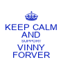 KEEP CALM AND SUPPORT VINNY FORVER - Personalised Poster A4 size