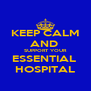 KEEP CALM AND  SUPPORT YOUR ESSENTIAL  HOSPITAL - Personalised Poster A4 size